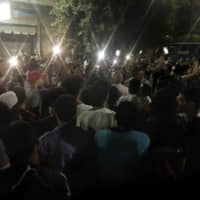 Small but rare protests erupt in Egypt after online call for dissent