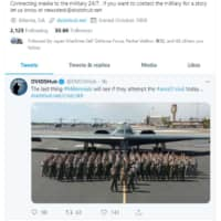 A screenshot of a tweet by the U.S. Defense Department's Defense Visual Information Distribution Service (DVIDS) on Friday appears to threaten to kill civilians venturing near a secretive military base in Nevada, known colloquially as Area 51.