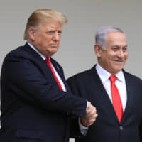 Trump floats possible U.S. defense treaty with Israel in boost for Netanyahu ahead of tough election