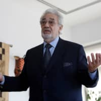 Opera singer Placido Domingo speaks during an event at the Manhattan School of Music in New York in 2018. | REUTERS