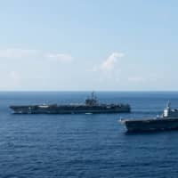 Japan-based U.S. aircraft carrier in South China Sea ahead of key Chinese anniversary