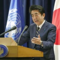 Abe slams South Korea for scrapping intel pact with Japan, saying frayed ties should not affect security