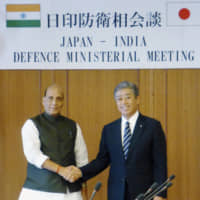 Japan and India defense chiefs seeking to boost cooperation, says Takeshi Iwaya after meet