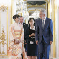 Princess Kako meets with Austrian president on first official trip abroad