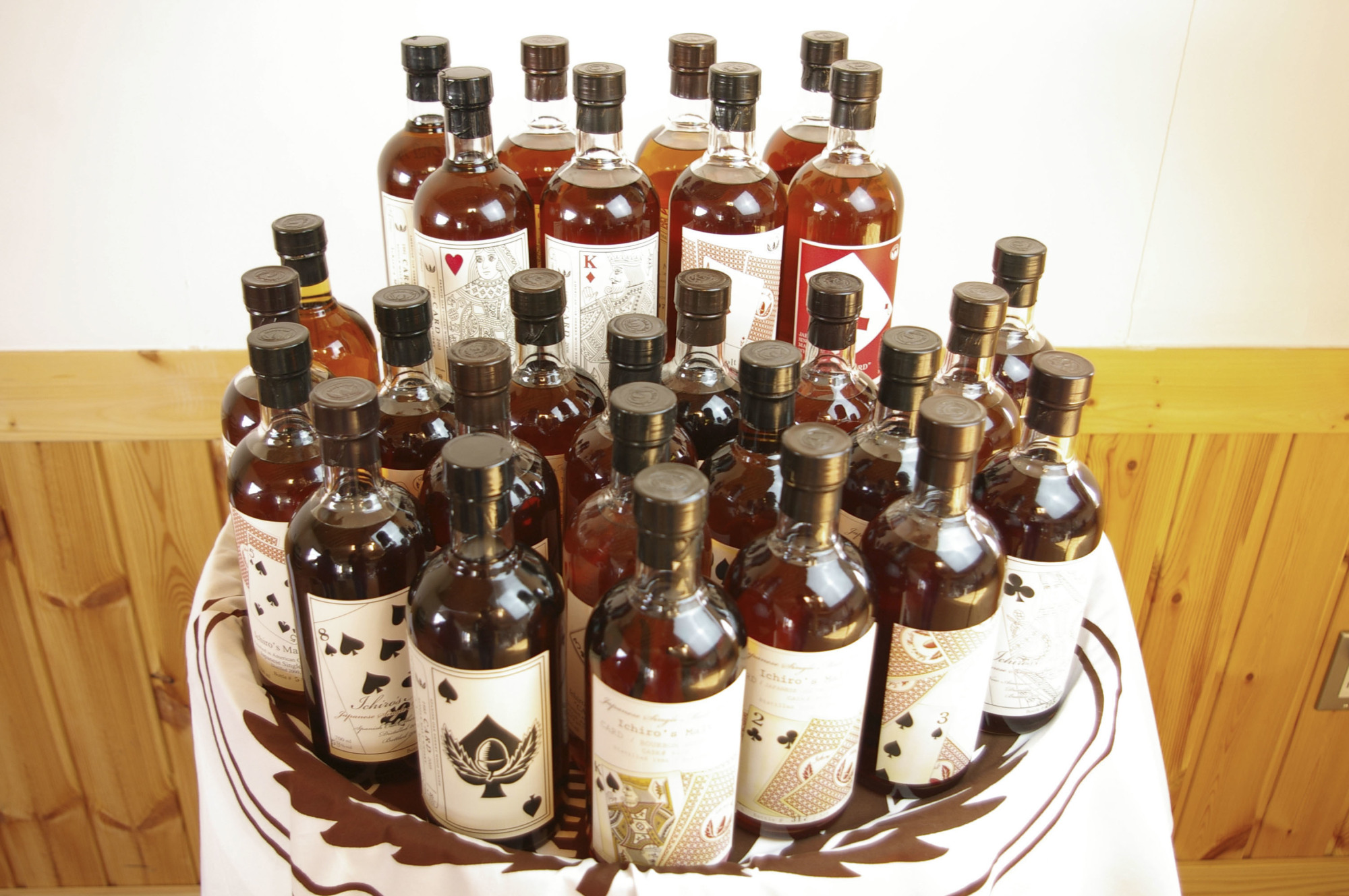 Liquid gold: The 54 bottles of  Japanese whisky sold for more than ¥97 million at a Hong Kong auction. | KYODO