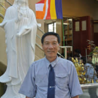 Founding father: Yu Takefumi helped build the Vietnam Temple by collecting donations. | KYODO