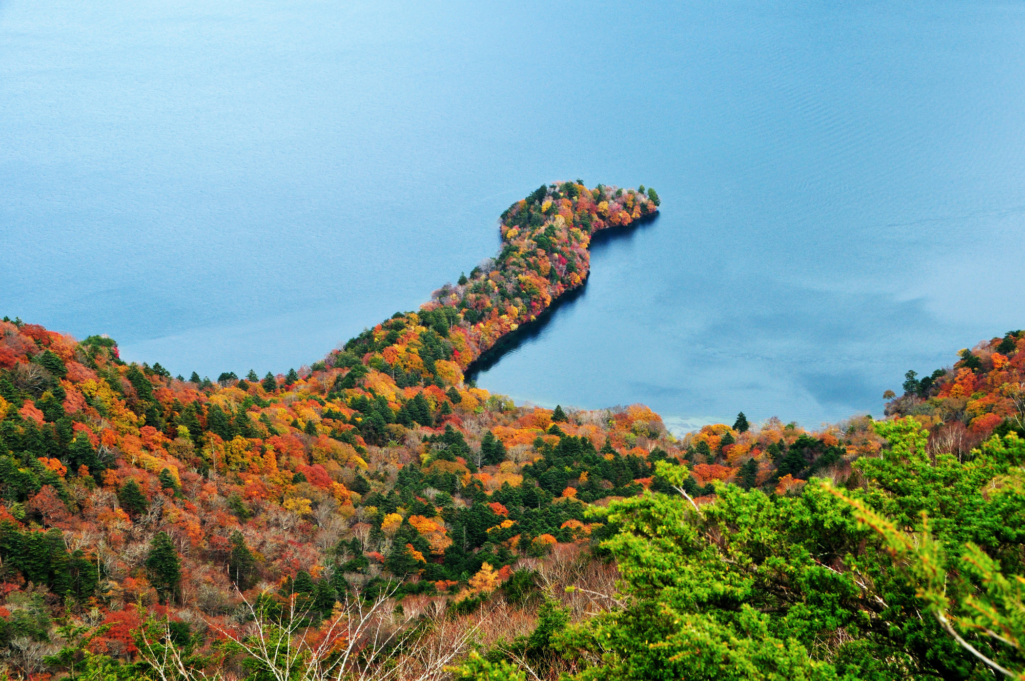 Finger lake: High up in Nikko National Park, Lake Chuzenji is pictured with its autumn coat on. | GETTY IMAGES