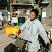 Personal journey: Mio Yamada during her 5,000-kilometer cycle from Kenya to South Africa in 2004 to 2005.