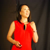 Inspiring others: Natsuyo Nobumoto Lipschutz gives a TEDxWaseda in 2015.