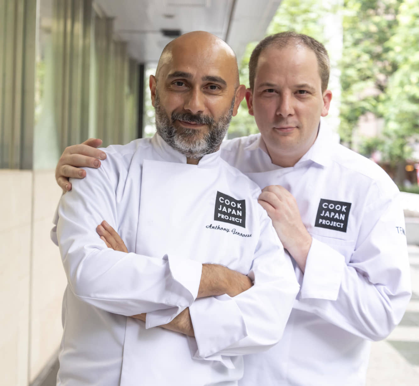 Culinary collaborators: Chef Anthony Genovese (left) poses with Jerome Quilbeuf. | COURTESY OF COOK JAPAN PROJECT