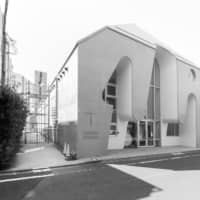 Symbolic design: The Harajuku Protestant Church has six arches and a bell that together represent the seven days of creation. | JIMMY COHRSSEN FOR BLUE CROW MEDIA