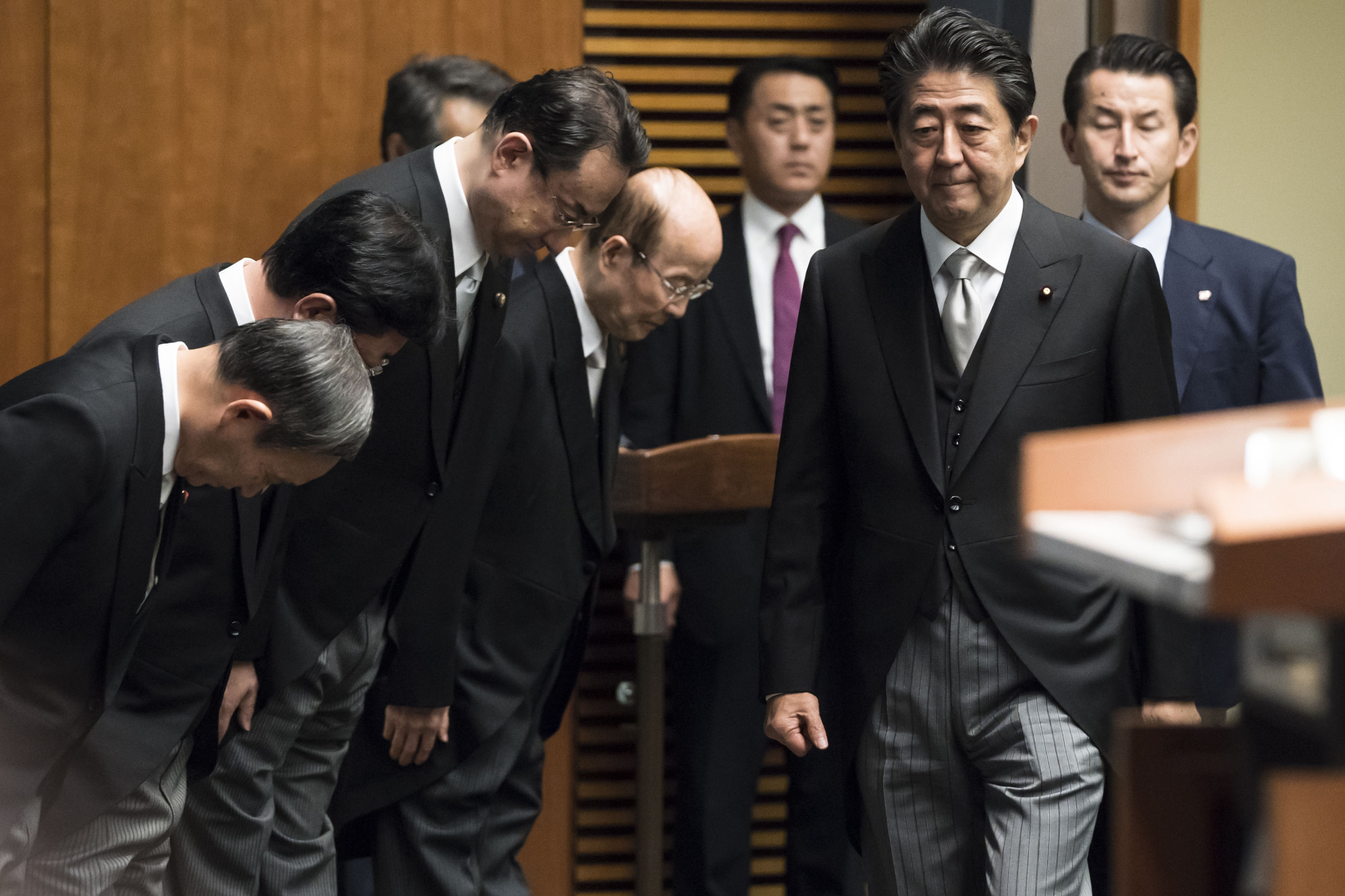 Prime Minister Shinzo Abe's Cabinet reshuffle is aimed at advancing his national agenda. | BLOOMBERG