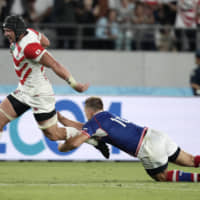 Japan overcomes slow start to triumph over Russia in Rugby World Cup opener