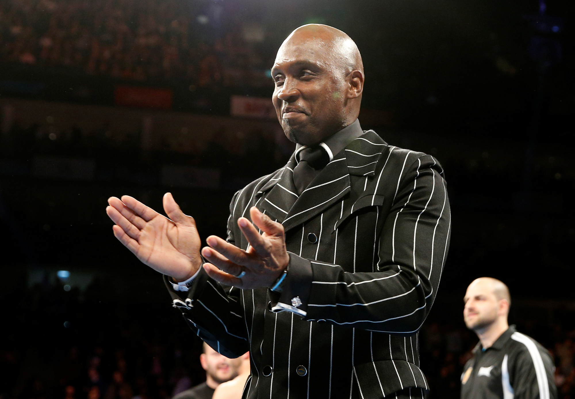 Former middleweight champion Nigel Benn is seen in a September 2016 file photo. | REUTERS