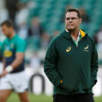South Africa coach Rassie Erasmus is seen in a file photo. | REUTERS