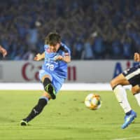 Two first-half goals propel Frontale past Jubilo