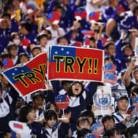 Rugby World Cup scores try with Japanese soccer media