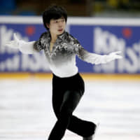 Shun Sato, seen here in a recent file photo, is a 15-year-old from Sendai who won his Junior Grand Prix debut in Lake Placid, New York, on Friday. | KYODO