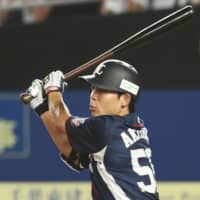 The Lions' Shogo Akiyama drove in five runs against the Marines on Tuesday. | KYODO