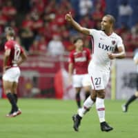 Antlers hold off Reds in 1st leg of Levain Cup quarterfinal