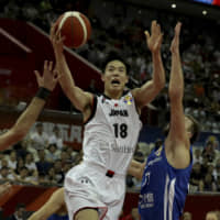 Japan's Yudai Baba puts up a layup attempt against the Czech Republic in Tuesday's game.   AP