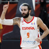 Veteran guard Ricky Rubio helped spearhead Spain's unbeaten run during the FIBA World Cup, which concluded on Sunday in Beijing. | REUTERS