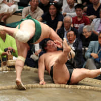 Five rikishi share lead after Day 10