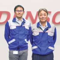 Kenichi Tokunaga, Managing Director and Shinichiro Yamaji, President of DENSO Manufacturing Czech s.r.o.