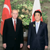 President of Turkey Recep Tayyip Erdoğan and Prime Minister Shinzo Abe | PHOTO FROM THE WEBSITE OF THE PRIME MINISTER'S OFFICE OF JAPAN