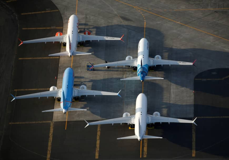 Boeing 737 Max aircraft are seen at the company's facilities at Grant County International Airport in Moses Lake, Washington, on Sept. 16. | REUTERS