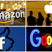 The logos of Amazon, Apple, Facebook and Google are seen in a combination photo from Reuters files. | REUTERS