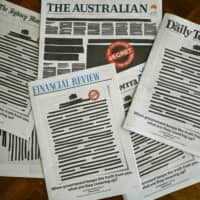Aussie newspapers protest state media restrictions in rare show of unity