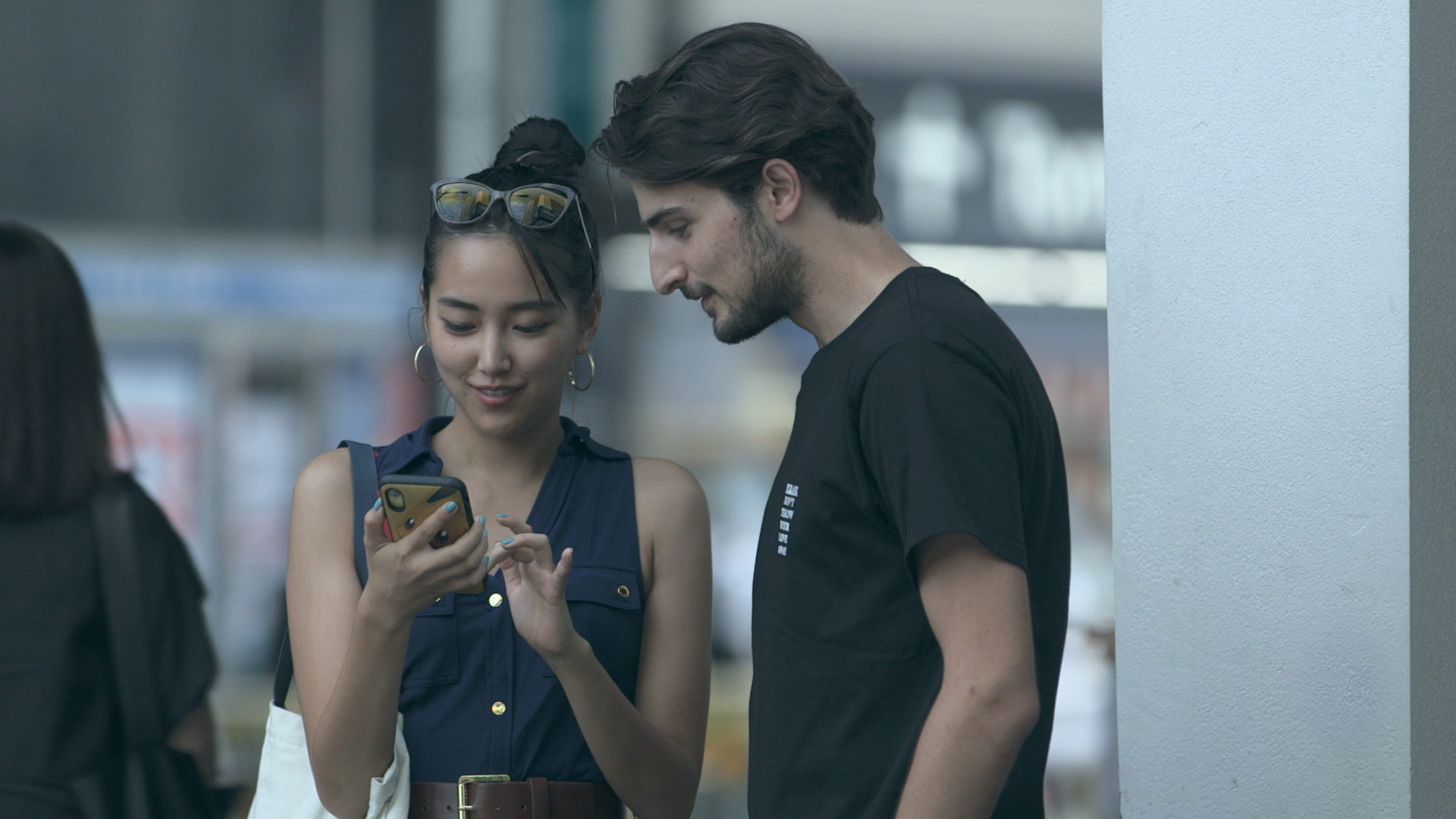 Perfect match: Haruka (left) and Peppe bond over a shared love of Pokemon Go and spend their afternoon catching virtual monsters on their phones on 'Terrace House Tokyo 2019-2020.' | © FUJI TELEVISION / EAST ENTERTAINMENT