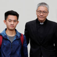 Chan Tong-kai, a Hong Kong citizen who was accused of murdering his girlfriend in Taiwan last year, leaves from Pik Uk Prison in Hong Kong on Wednesday. | REUTERS