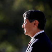 Emperor Naruhito will proclaim his enthronement Tuesday at a ceremony at the Imperial Palace. | REUTERS