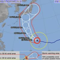 Extremely large typhoon draws bead on Japan, could hit main islands this weekend