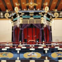 This canopied throne used in the ritual to proclaim the enthronement of Emperor Naruhito will go on public display in December and January. | KYODO