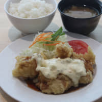 A chicken nanban (fried chicken with tartar sauce) set meal served at Yahoo Japan Corp.'s cafeteria   YAHOO JAPAN CORP.