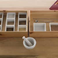 Prep station: At Juttoku, you grind your own incense mix using a mortar and pestle before hand-kneading it into your desired shape and leaving it to dry. | RYOICHI OKAZAKI