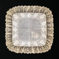 A vintage Blooming Nakanishi handkerchief, trimmed with Swatow lace from China. | COURTESY OF BLOOMING NAKANISHI AND COMPANY