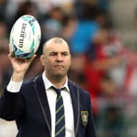 Australia coach Michael Cheika has resigned following Saturday's quarterfinal loss to England in the Rugby World Cup. | REUTERS