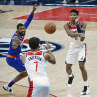 NBA commissioner Adam Silver believes Rui Hachimura can be an impactful player in the league. | KYODO