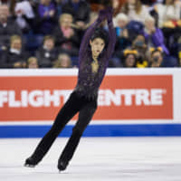 Two-time Olympic champion Yuzuru Hanyu won Skate Canada for the first time on Saturday with a dynamic performance. | AFP-JIJI