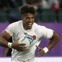 Anthony Watson scores England's fourth try on Saturday. R | REUTERS