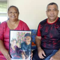 Brave Blossoms star Timothy Lafaele's family in Samoa flies the flag for Japan