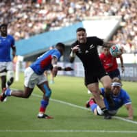 All Blacks overcome early struggles to crush Namibia