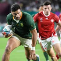 South Africa's Damian de Allende embraces conservative playing style in knockout phase