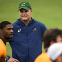 South Africa bids to oust 'likable' host Japan from its Rugby World Cup