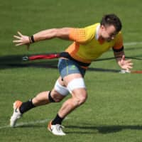 Wallabies' Jack Dempsey, Lukhan Salakaia swap jerseys due to 'embroidery mishap'