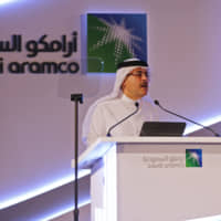 Amin Nasser, chief executive officer of Saudi Arabian Oil Co. (Aramco), speaks during a news conference in Dammam, Saudi Arabia, on Sunday. More than three years after Crown Prince Mohammed bin Salman first raised the idea — and just three weeks after a plan to launch the share sale was abruptly shelved — oil giant Saudi Aramco announced its intention on Sunday to list shares on the local stock exchange in Riyadh. | BLOOMBERG